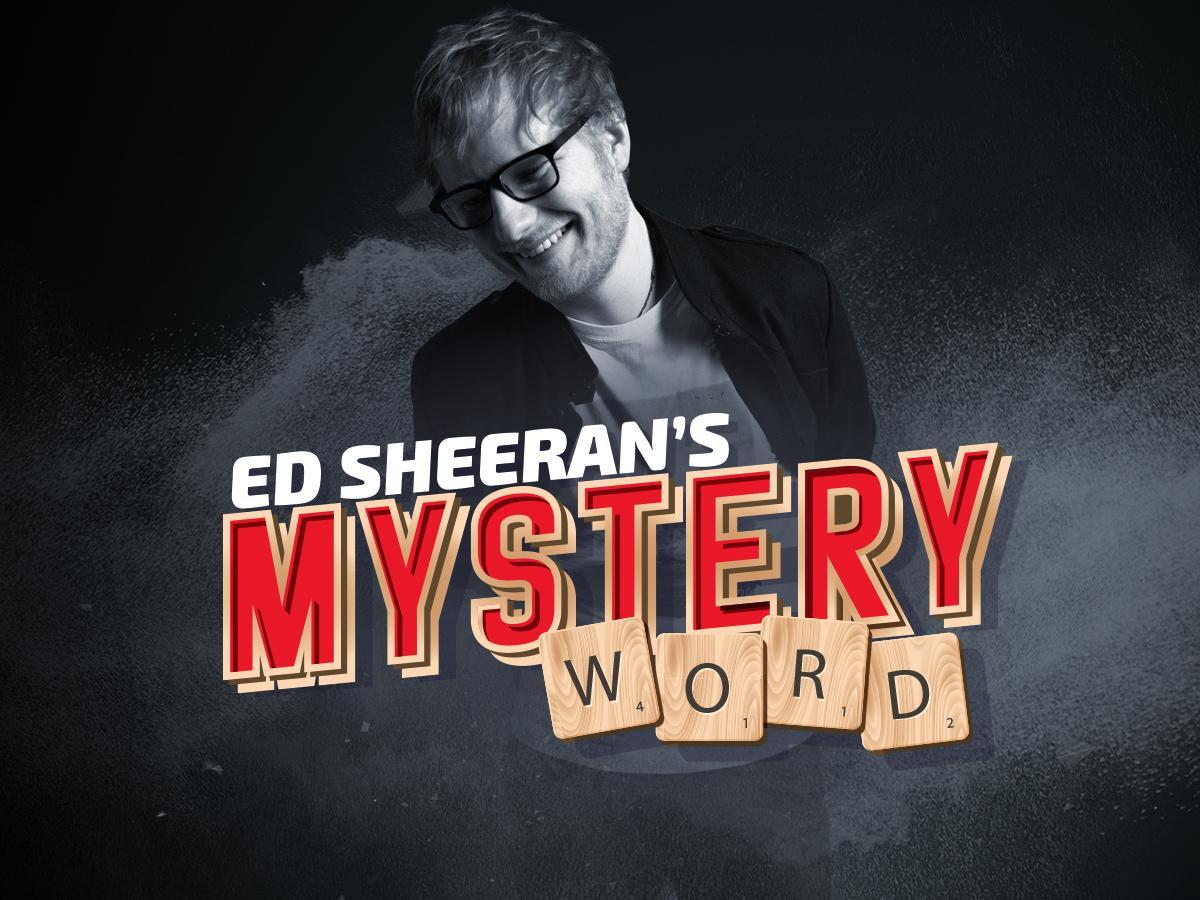 Ed Sheeran's Mystery Word has been won!