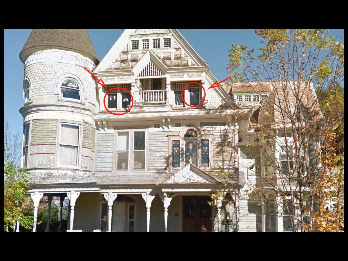 ghostly images from inside haunted house caught on google