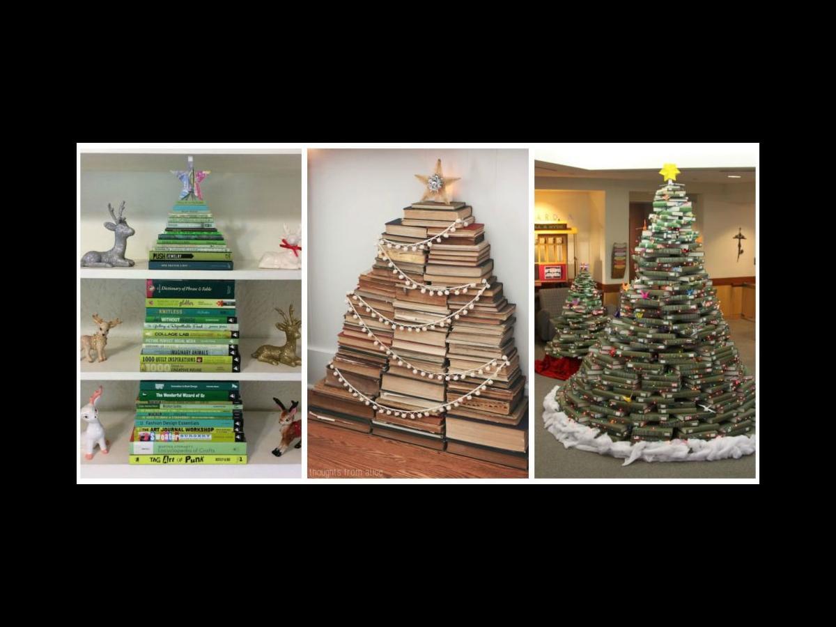 xmas book tree - How Long Can A Christmas Tree Last