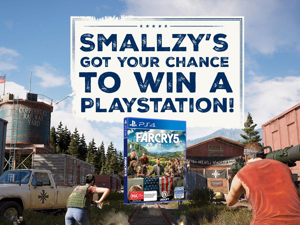 Smallzy's got YOUR chance to win a PlayStation 4!