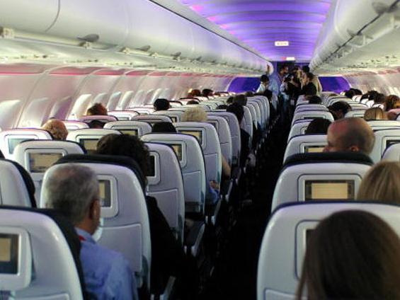 Inside an aeroplane