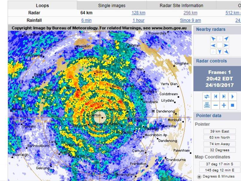 Melbourne freaks out over weather radar glitch | Nova 100