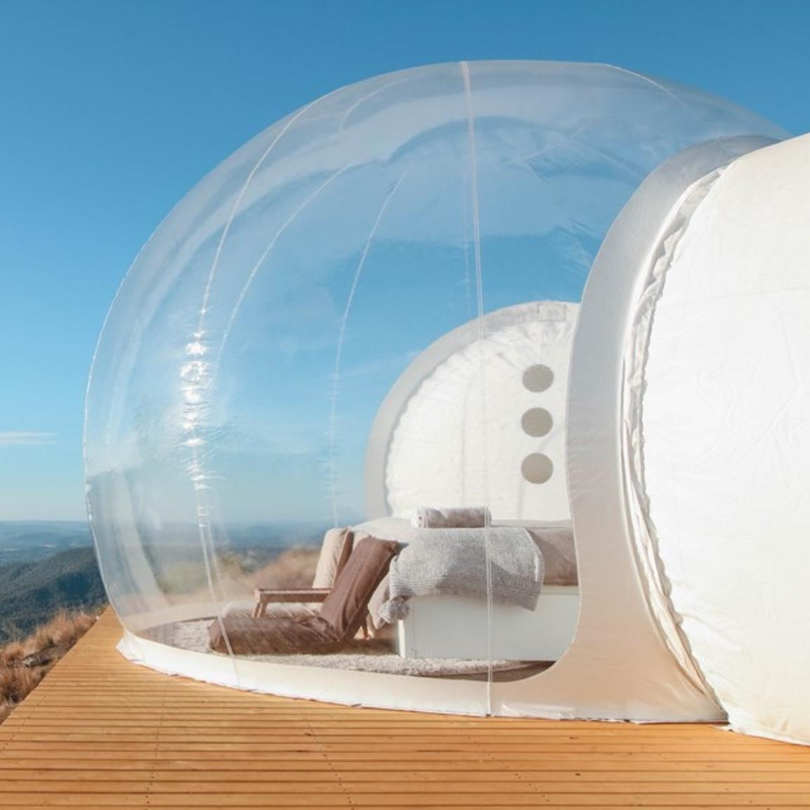 Bubble tents have arrived in Australia