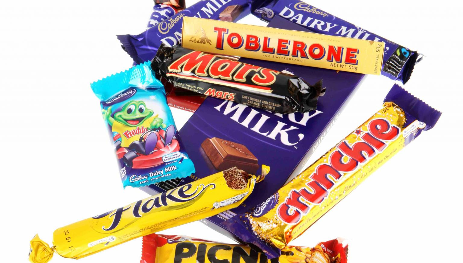 Cadbury Most Popular Chocolate Bars