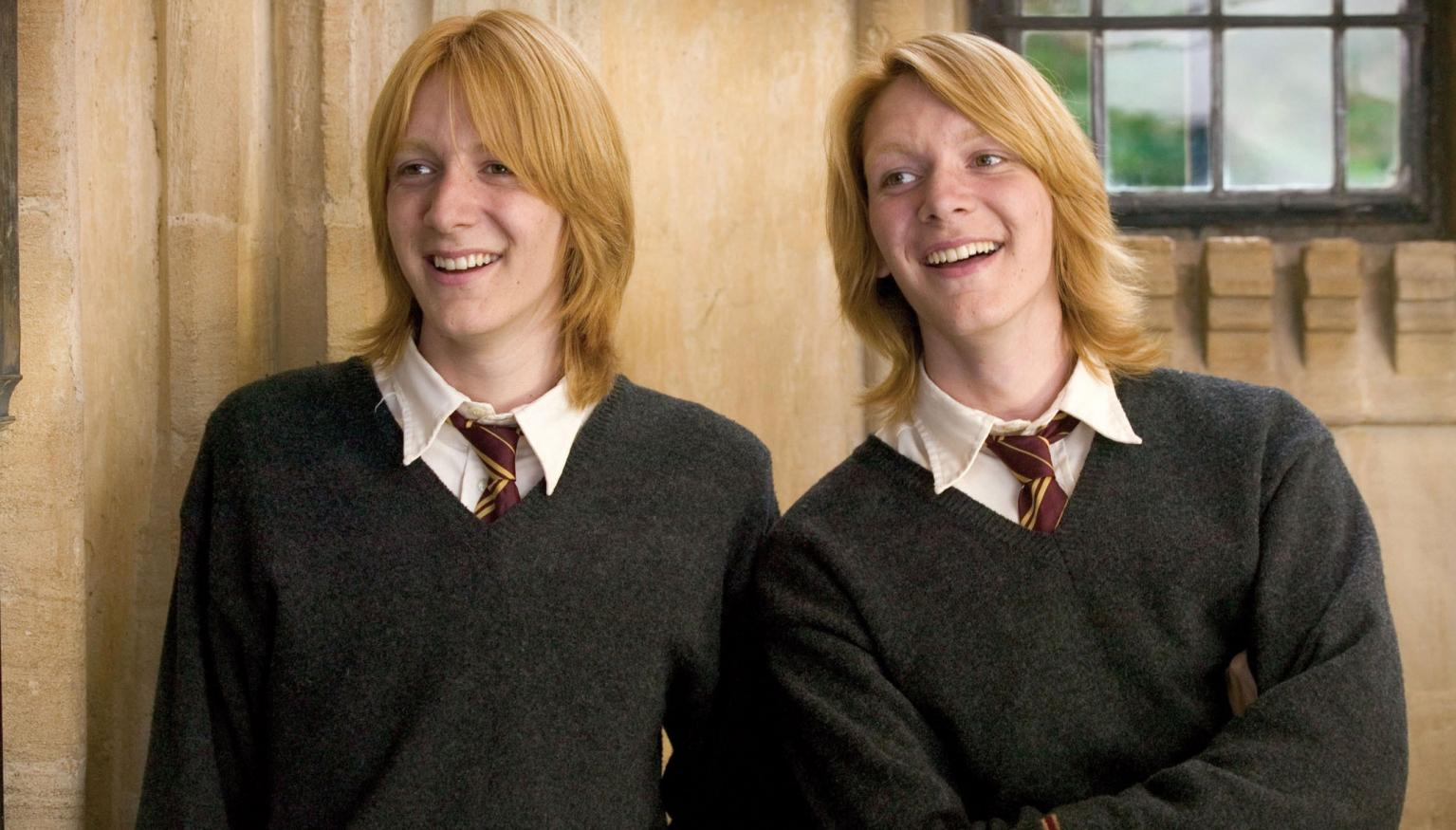 Harry Potter S Weasley Twins Look Pretty Different Now