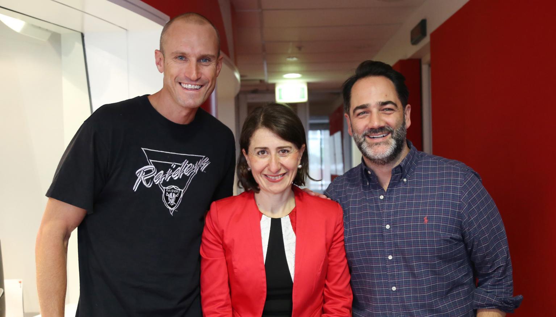 NSW Premier Gladys Berejiklian fulfils her end of the Origin bet