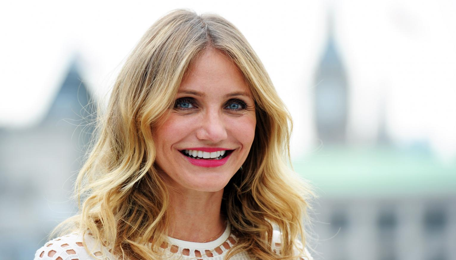 cameron diaz pictured in rare intimate snap with husband benji