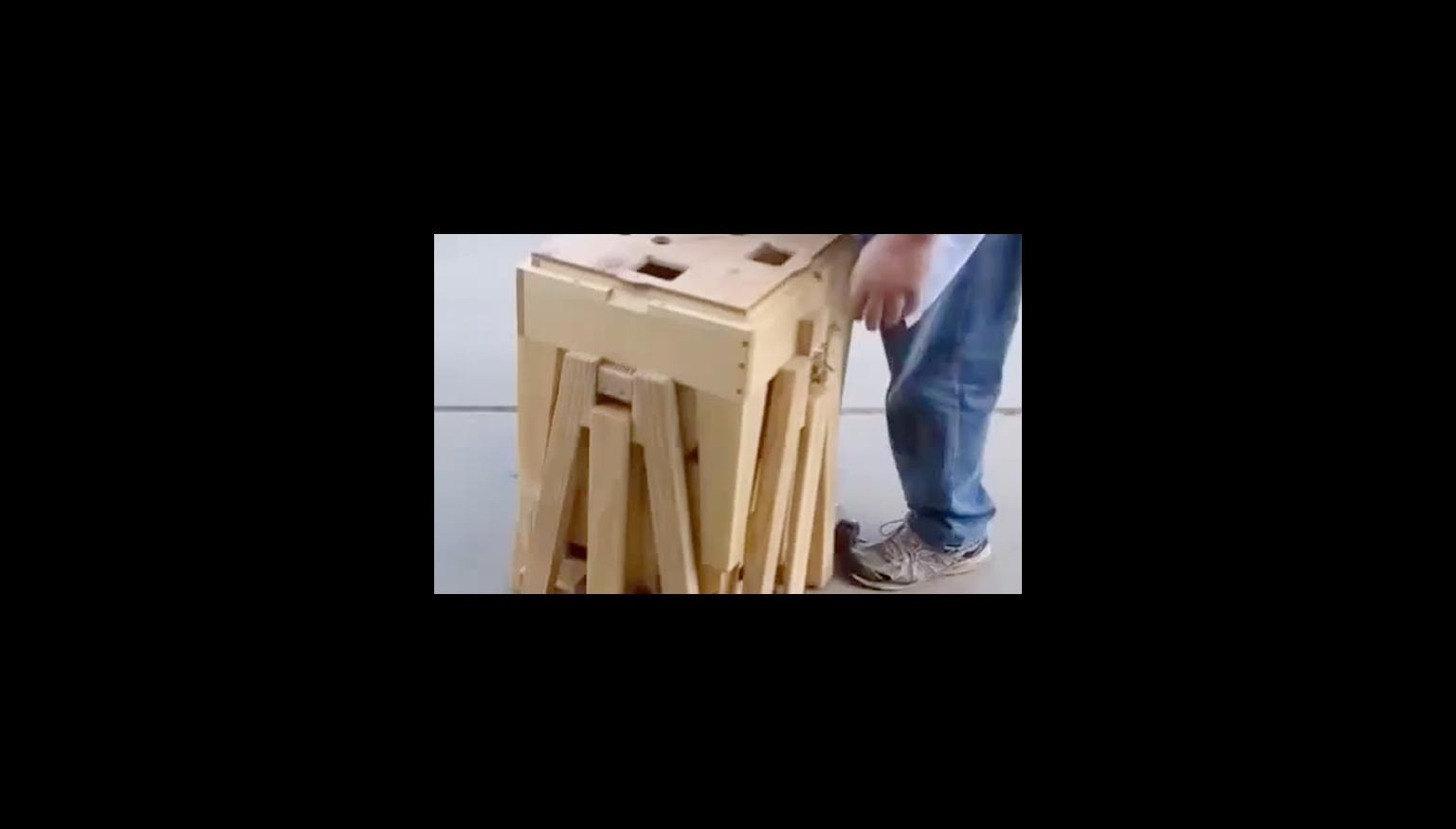 Fold Out Wooden Table Is Genius