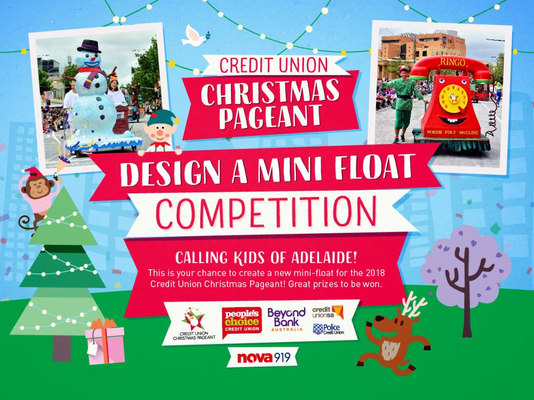 Have your very own mini float in the 2018 Credit Union Christmas Pageant!