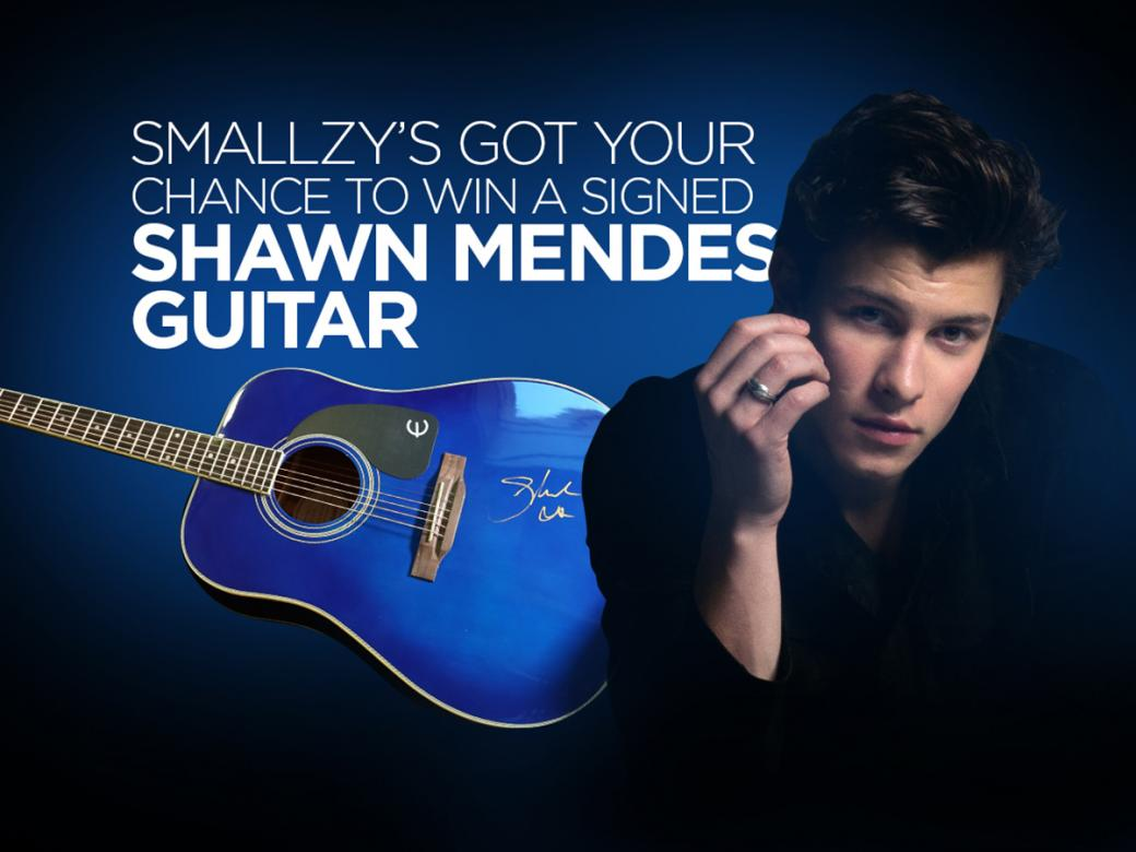Smallzy's got YOUR chance to win a Guitar signed by SHAWN MENDES!