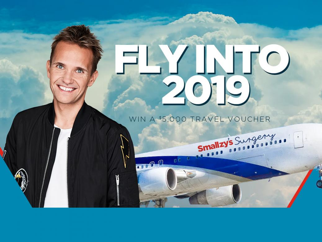 FLY INTO 2019! YOUR chance to win a $5,000 Travel Voucher!