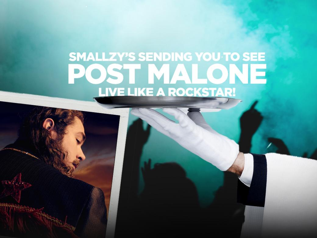 Smallzy's Sending You To See Post Malone Live Like A Rockstar! In A Corporate Suite!