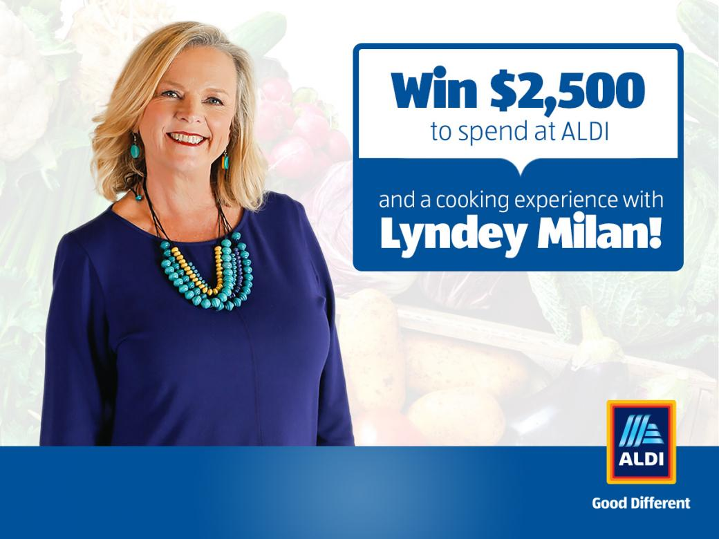 Win $2,500 to spend at ALDI & a personal culinary experience with Lyndey Milan