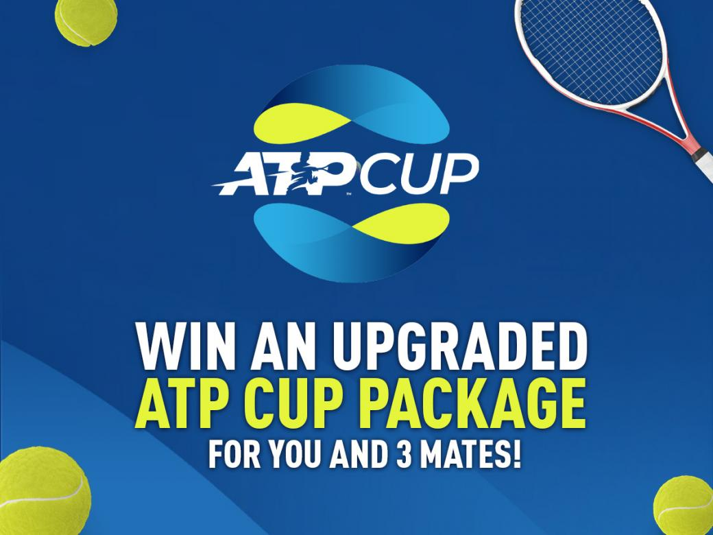 Win An ATP Cup Package For You And Three Mates!