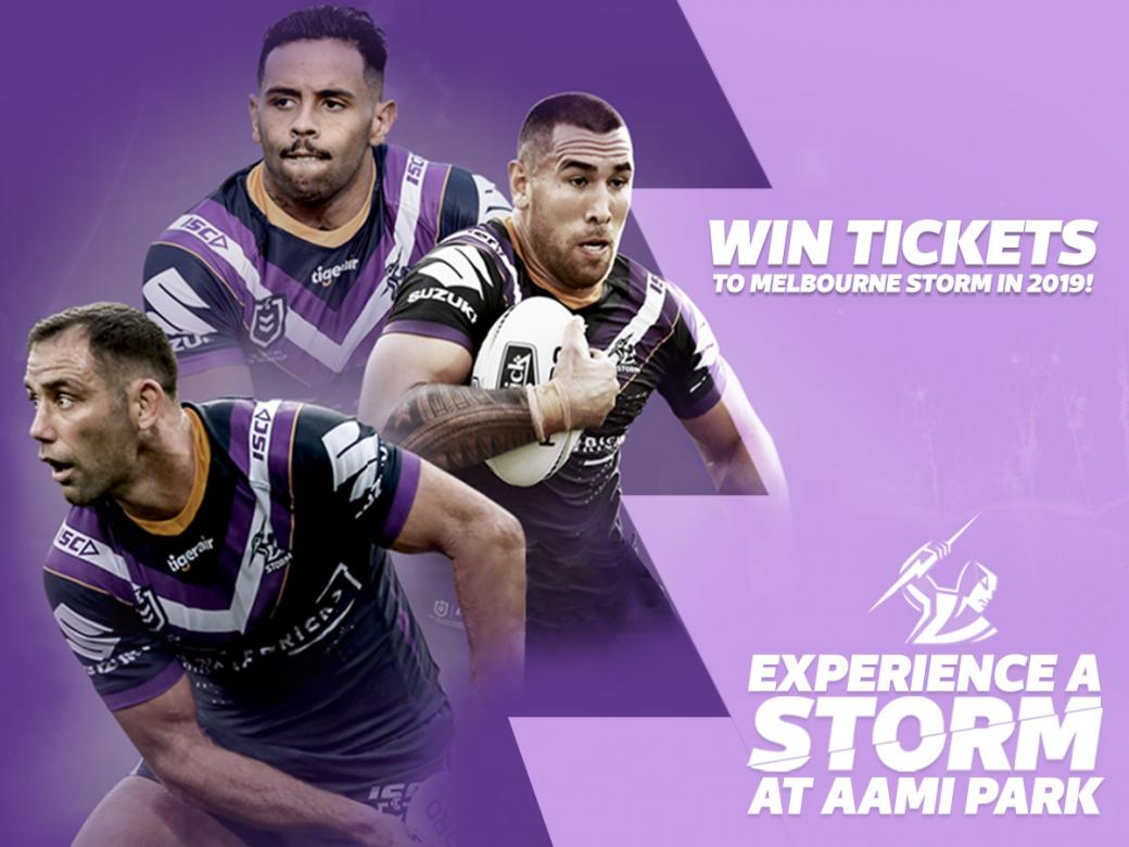 Win Tickets To Melbourne Storm In 2019!