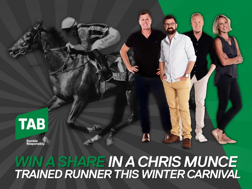 Win A Share In A Chris Munce Trained Runner This Winter Carnival, Thanks To TAB
