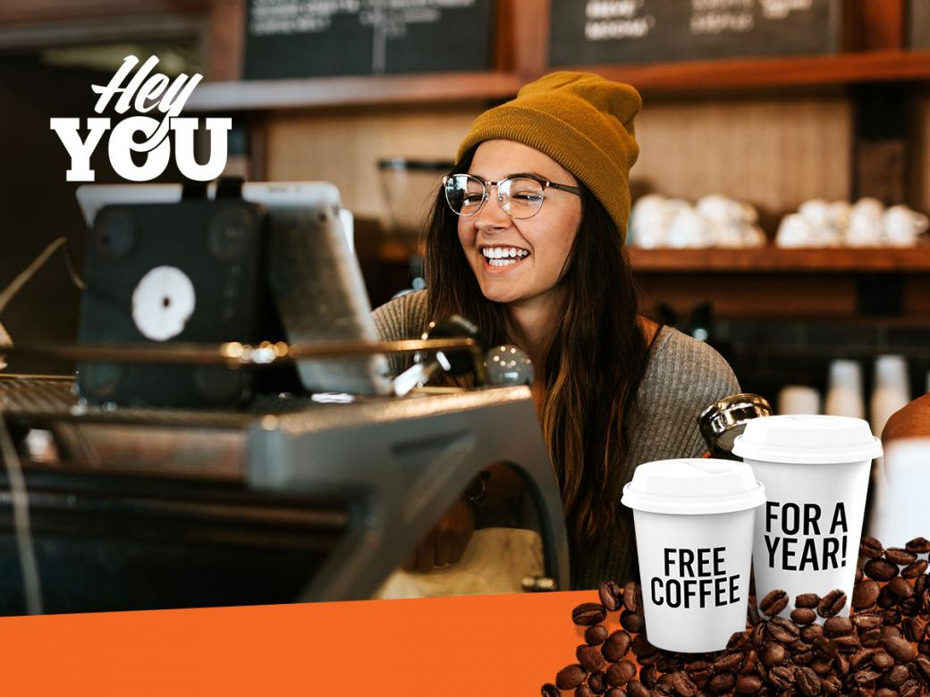 Win Free Coffee For A Year From Hey You.