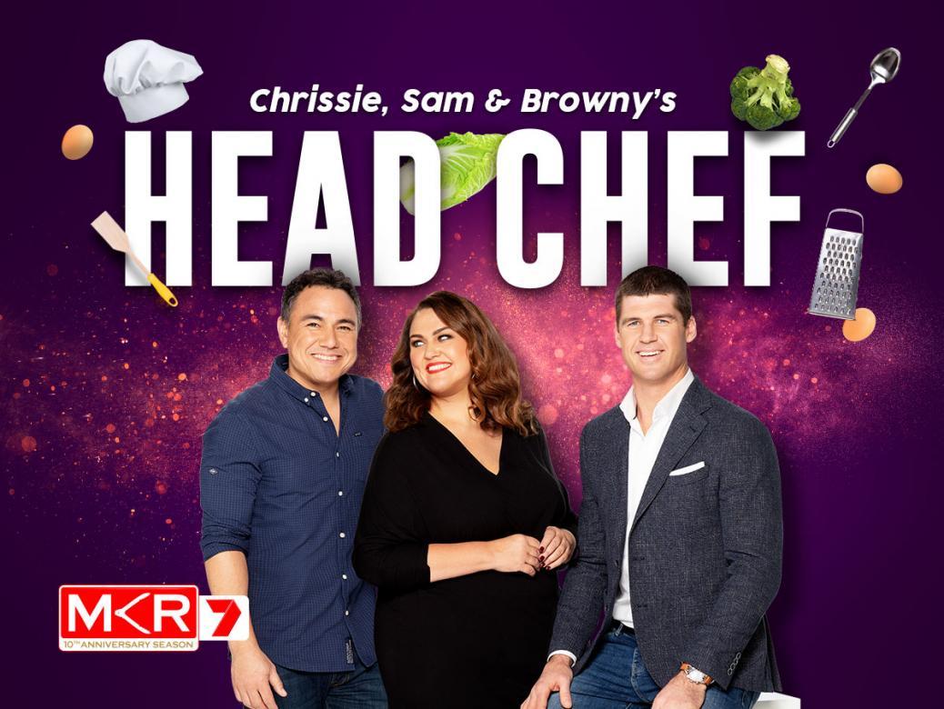 Chrissie, Sam & Browny's Head Chef!