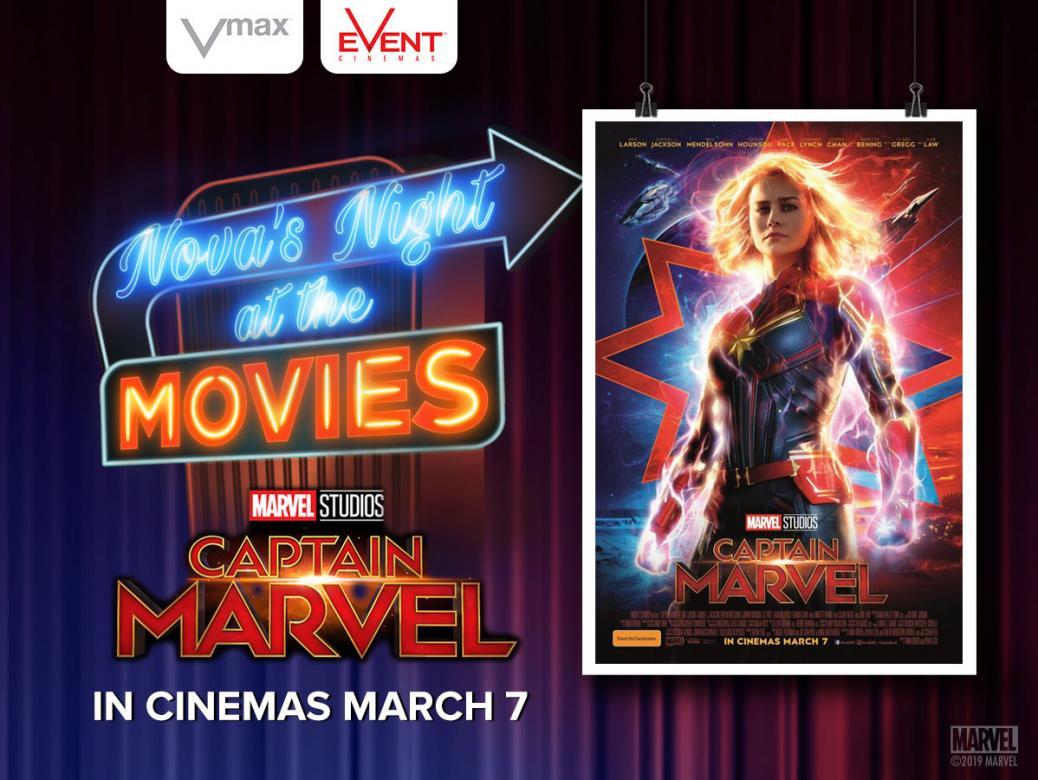 Nova's Night at the Movies advance screening of Marvel Studios' Captain Marvel!