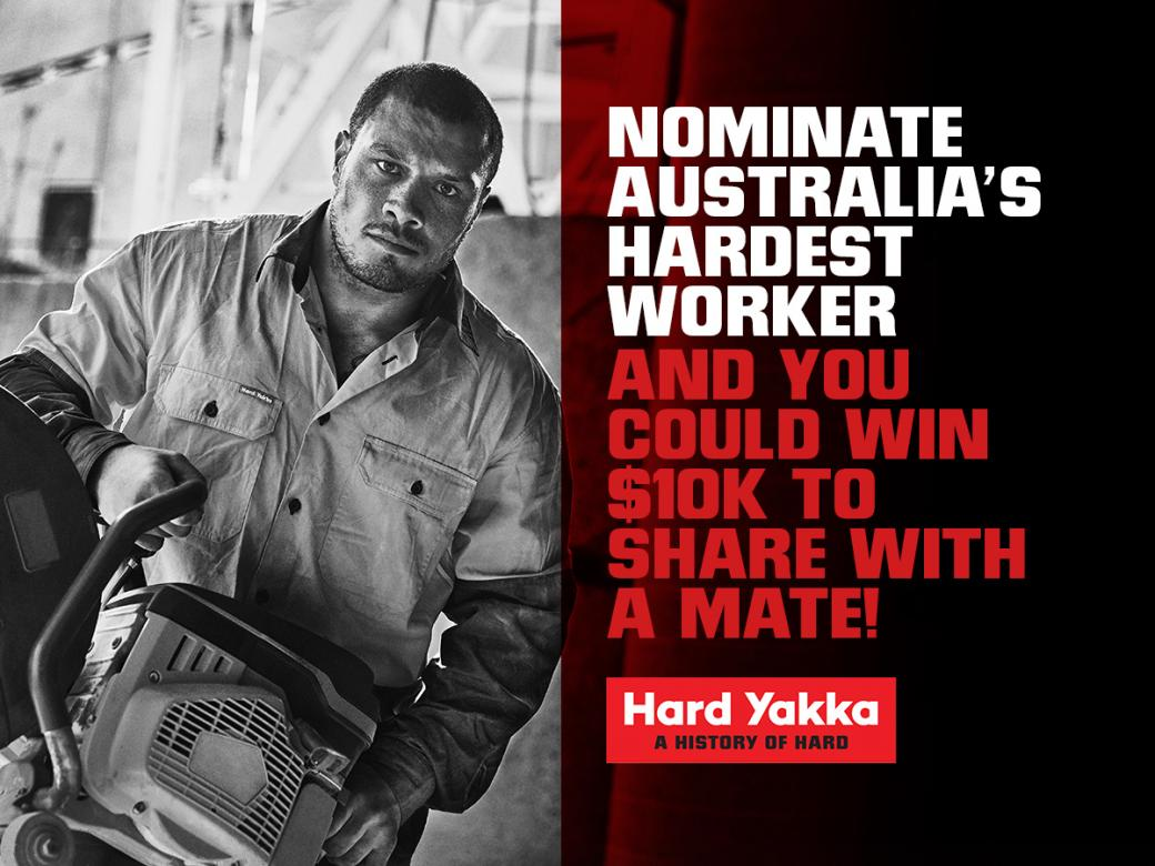 Nominate a tradie to win $10k for you and a mate