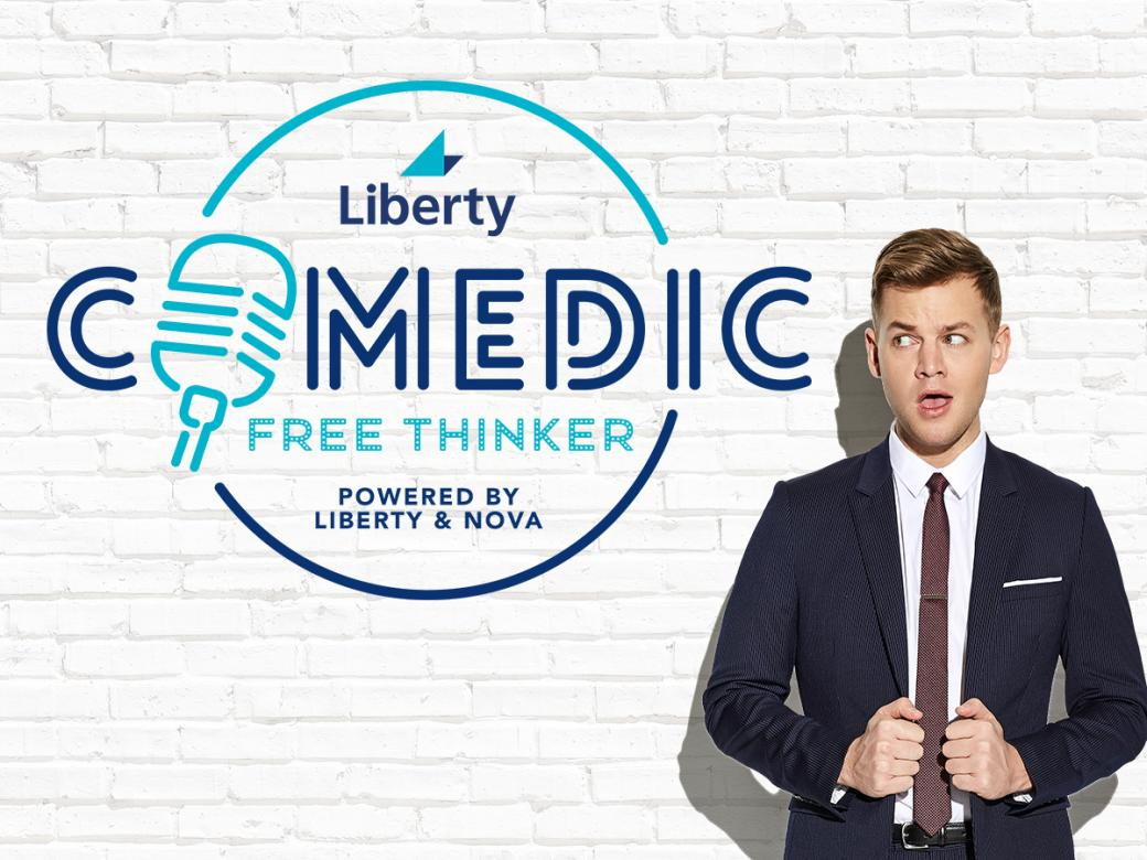 Win $5k by voting for the Liberty Comedic Free Thinker!