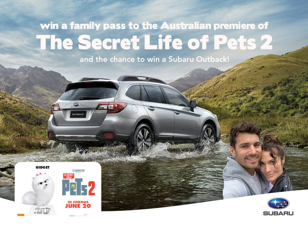 Win Tickets To Secret Life Of Pets 2 And The Chance To Win A Subaru Outback!