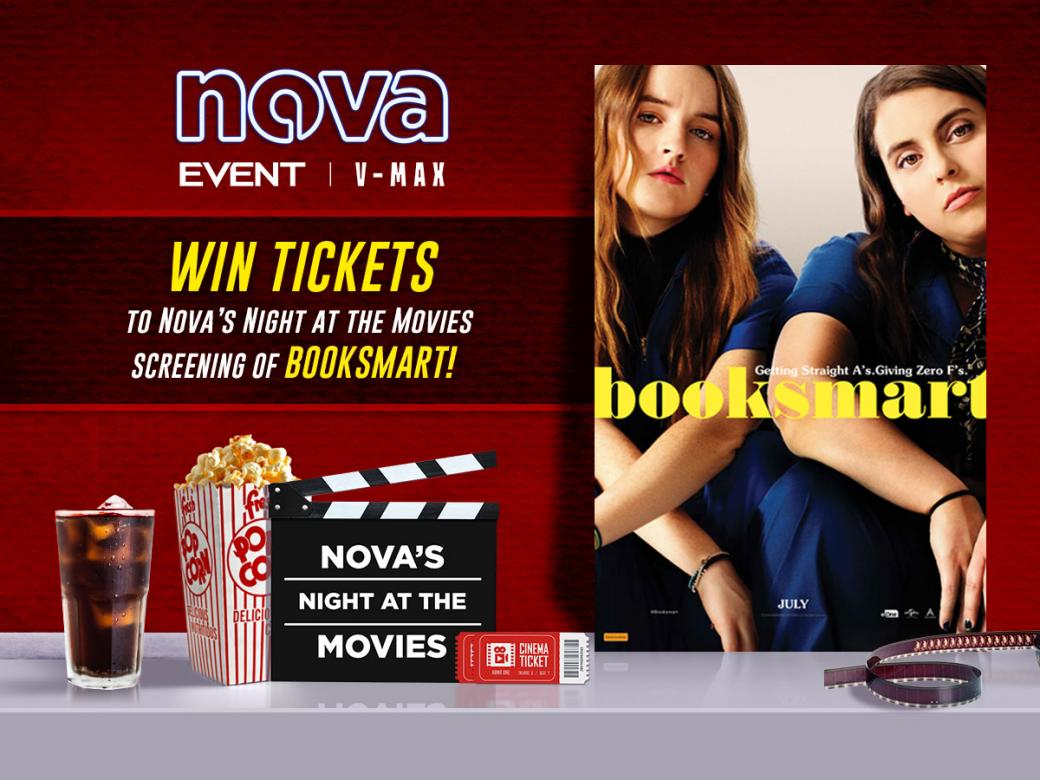"""Win Tickets To """"Booksmart"""" At Nova's Night At The Movies"""