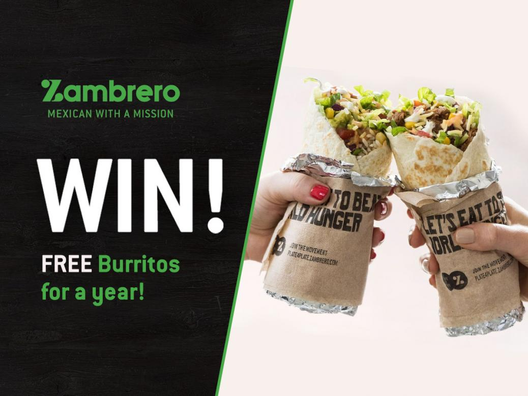 WIN FREE Burritos for a year!