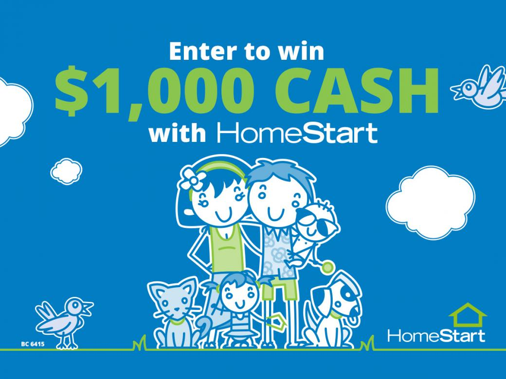 $1000 Cash could be all yours!
