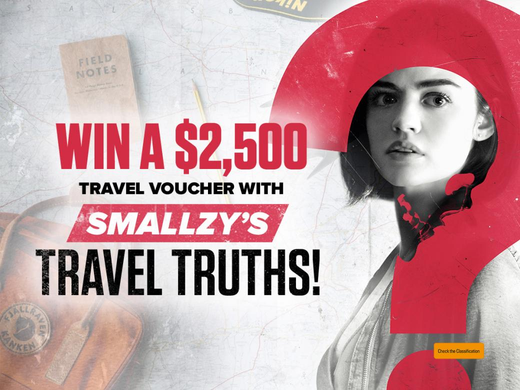 Win a $2,500 Travel Voucher with Smallzy's Travel Truths!