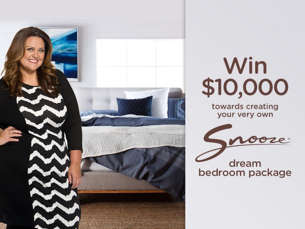 Win a $10,000 Snooze dream bedroom!