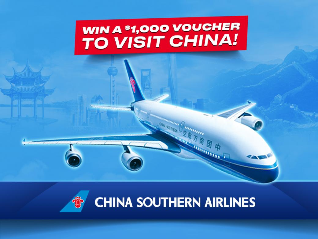 Win A $1,000 Voucher To Visit China!
