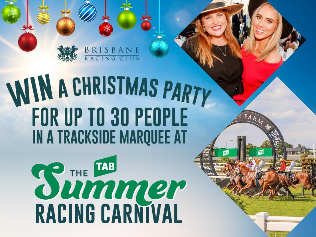 Win A Catered Christmas Party For Up To 30 People In A Trackside Marquee