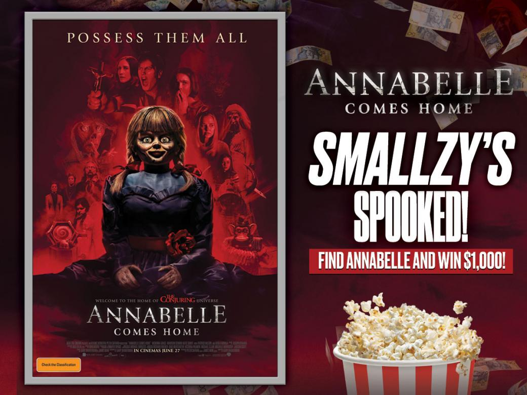 Smallzy's Spooked! Find Annabelle And Win $1,000!