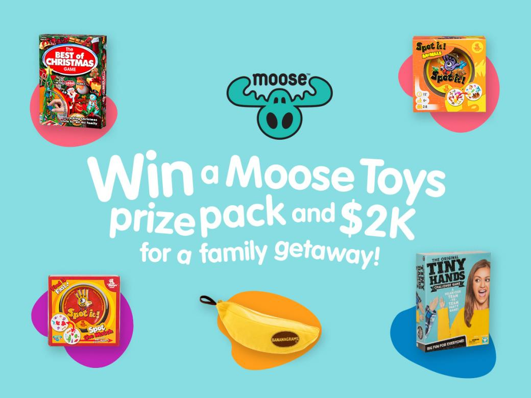Win A Massive Moose Toys Prize Pack & 2 GRAND CASH For A Family Getaway!