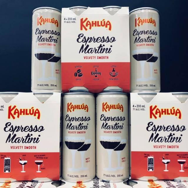 You can now get expresso martinis in a can