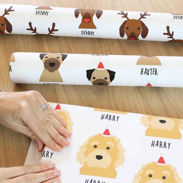 PSA: You can get personalised doggo wrapping paper for Christmas