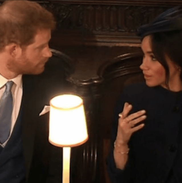 Video shows Meghan Markle appearing to snap at Prince Harry during Eugenie's wedding