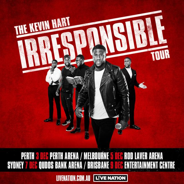 Kevin Hart is bringing his hysterical tour to Australia!