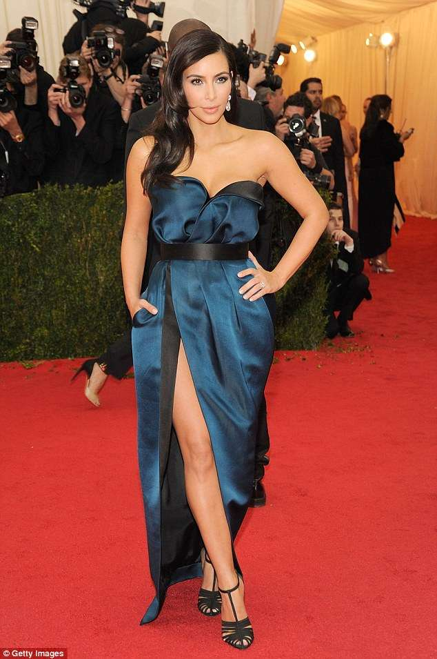 07e6c42b3bc Picture of Kim Kardashian in dress she almost wore to 2014 Met Gala ...
