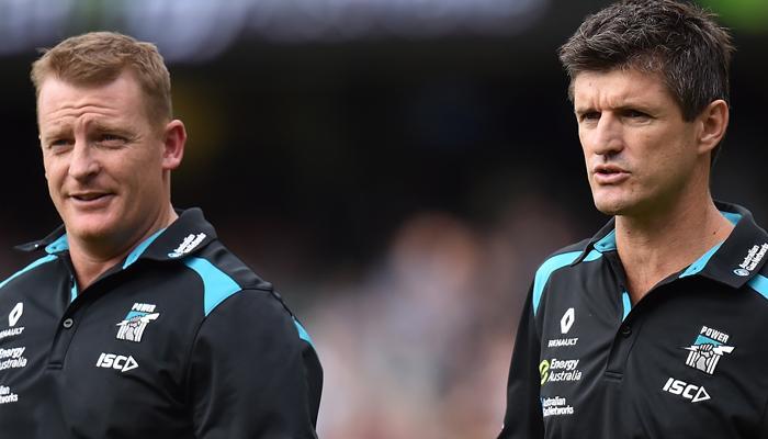 Nathan Bassett talks about Port Adelaide's coach's box | FIVEaa