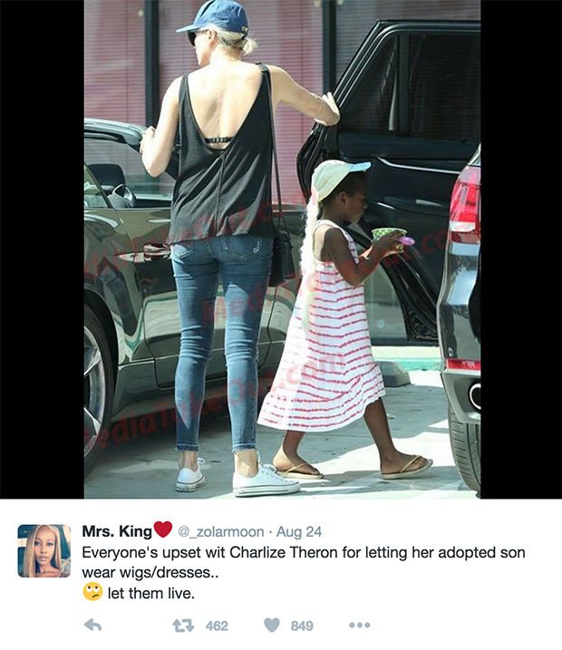 Charlize Theron Slammed For Letting Her Son Wear An Elsa Costume