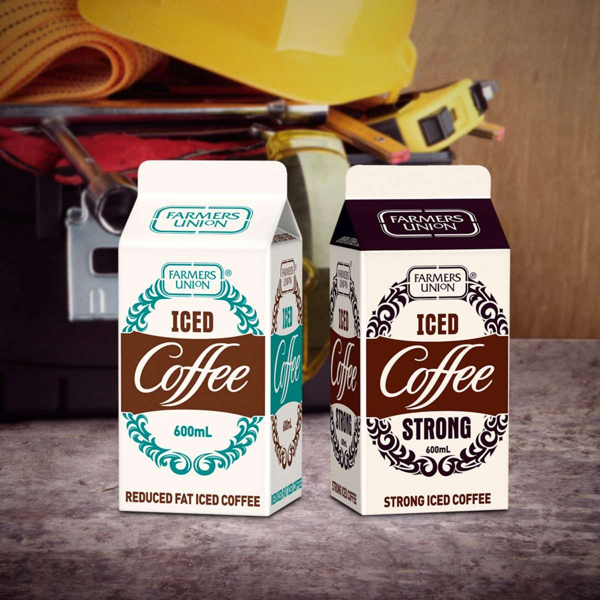 farmers union iced coffee advertisement