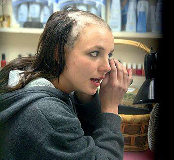 Britney head her photo shaved spear