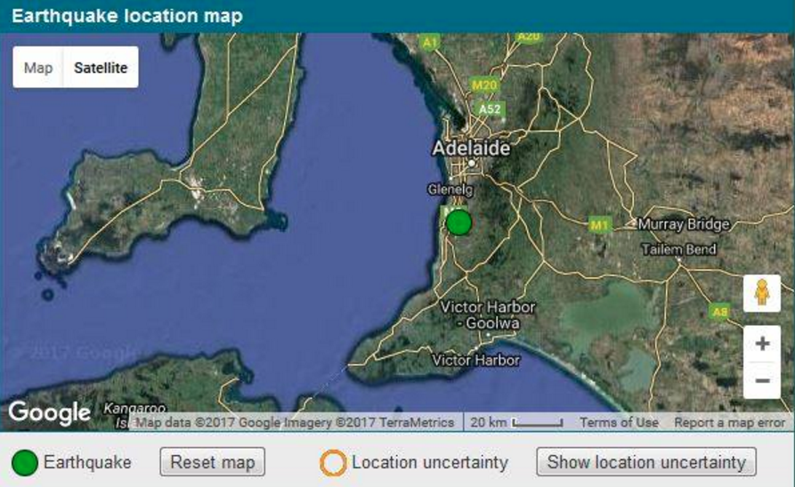 Adelaide hit by another earth tremor felt stronger than the update 141pm jonathan barthgate from geoscience australia confirms magnitude 27 quake struck adelaide outskirts just after 1224pm local time on gumiabroncs Choice Image