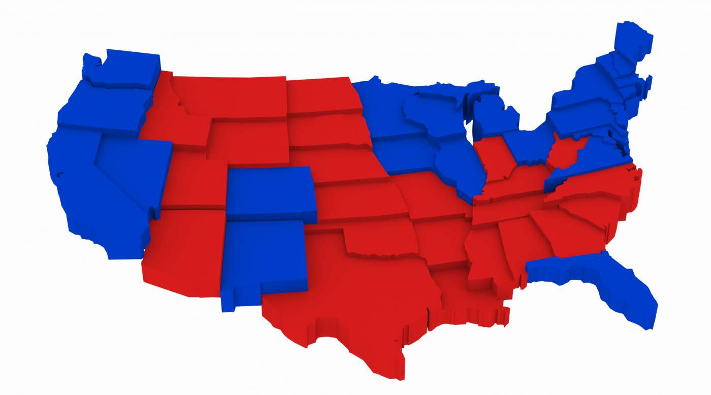 An Easy Guide To The US Presidential Election Smooth - 2012 red blue us map