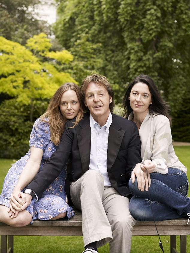 Paul McCartney With Daughters Stella And Mary
