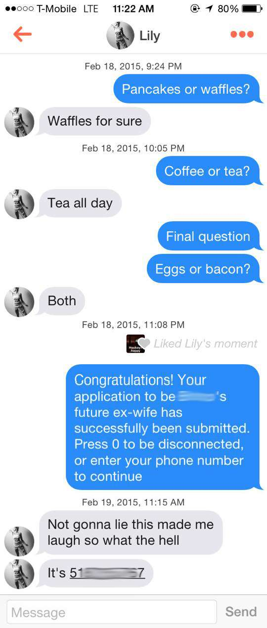 Most successful tinder lines