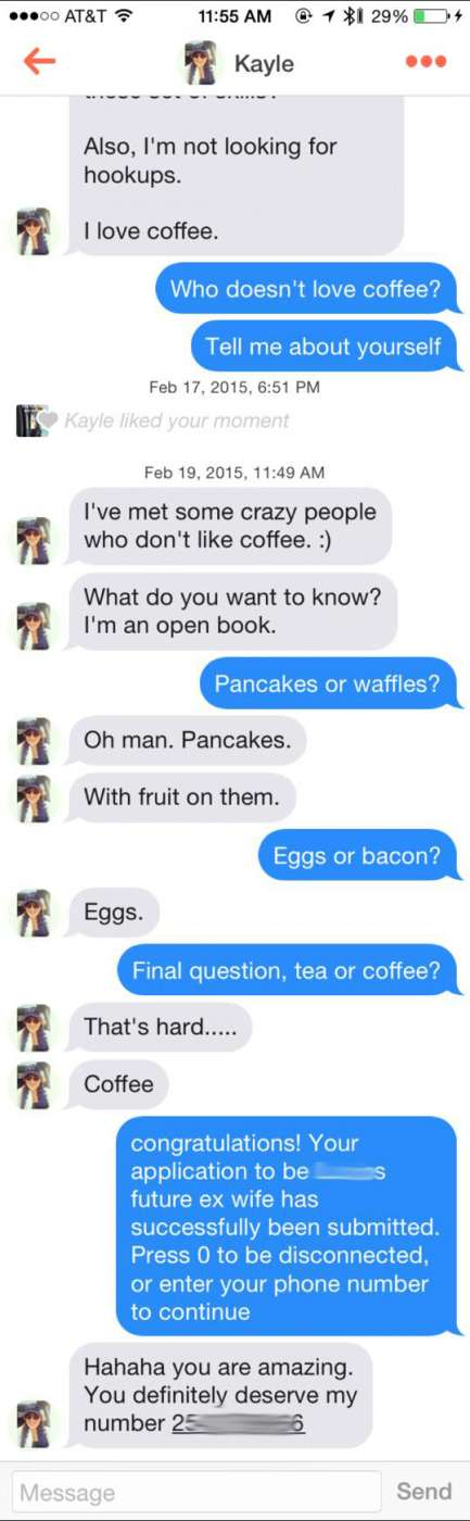 The Tinder pick up line that gave a dude a 100% success rate
